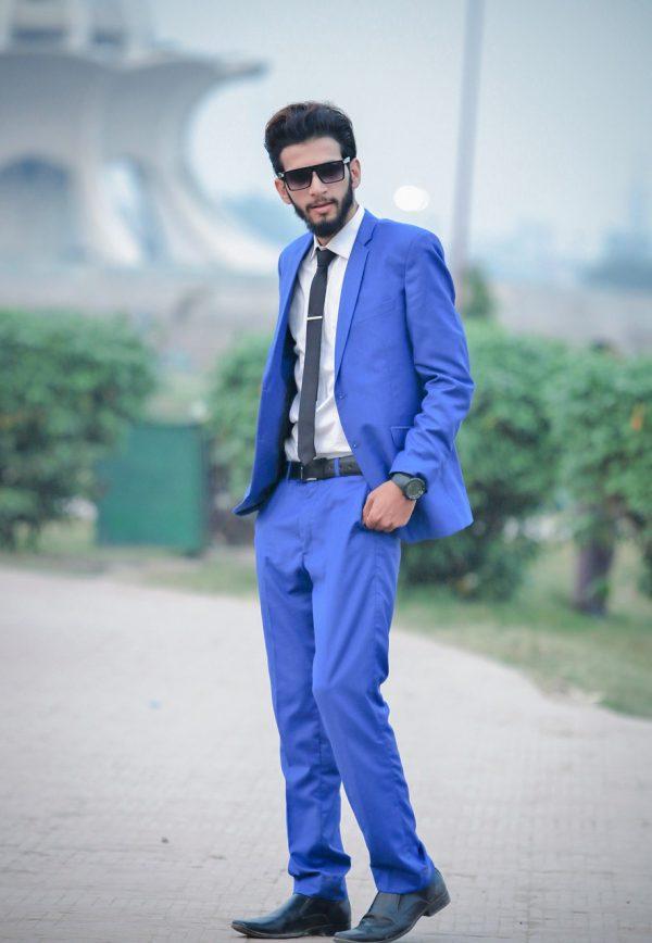Men Jacket Light Blue